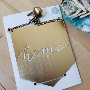 Home hanging gold wall art decoration